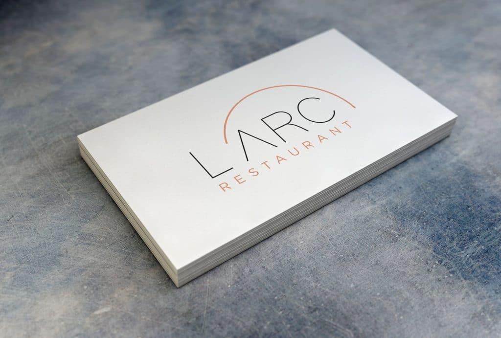Création du logo L'Arc Restaurant