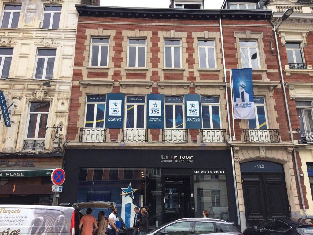 Création nouvelle façade Lille Immo