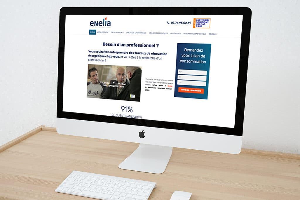Groupe Enelia : création site internet