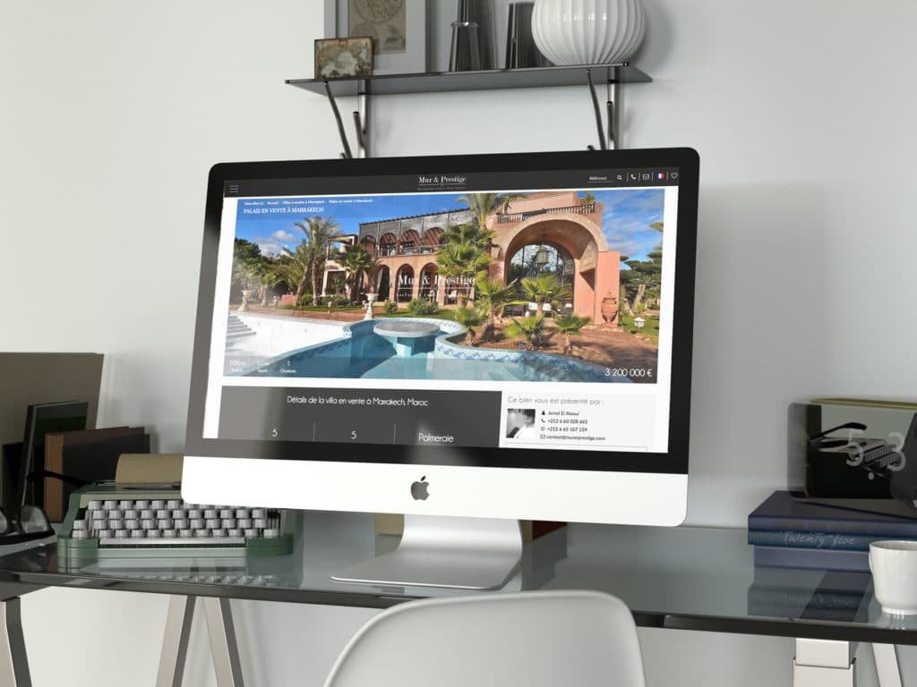 Création de site internet agence immobilière à Marrakech :         Mur & Prestige