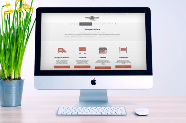Site web réalisation pour Scriptcolors
